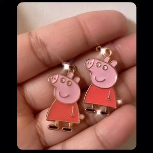 Custom Peppa Pig Earrings